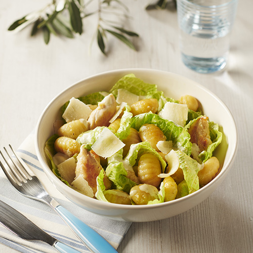 Gnocchis façon salade César